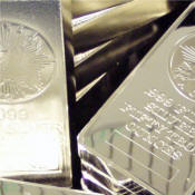 silver bars and bullion